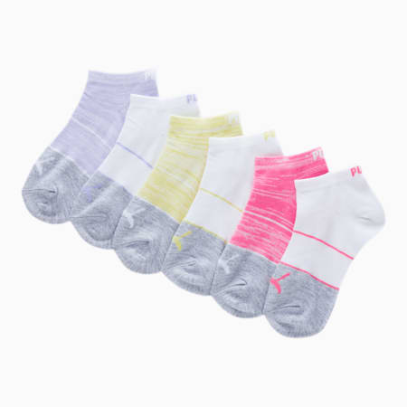 Girls' Low Cut Socks [6 Pack], MD COMBO, small